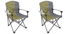 2 x Quest Elite Deluxe Range Suffolk Folding Chair Green