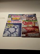 Lot of 4 quilting magazines(1) 2005 Quilt - 3 quilters 1- 2006 & 2 - 2008
