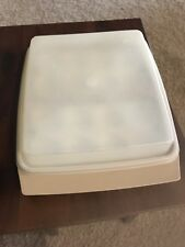 TUPPERWARE DIVIDED DEVILED EGG CARRIER HOLDER TAKER CONTAINER 4 PC BeIge 4 PC