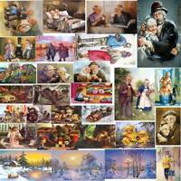 5D DIY Diamond Painting Older Couples Cross Stitch Embroidery Mosaic Kits Decor