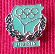 vintage 1970s NIGERIA National Olympic Committee (NOC) Pin Undated