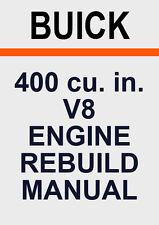 BUICK 400 V8 ENGINE REBUILD MANUAL