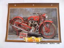CARTE FICHE MOTO GILLET HERSTAL 500 SUPERSPORT HG 25 1935