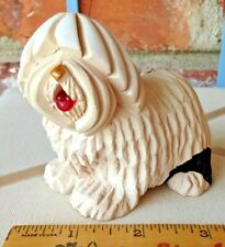 Vintage Artesania Rinconada Sculpture Of An Old English Sheepdog Figurine!