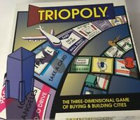Vintage Triopoly The Three Dimensional Game of Buying & Building Cities Complete