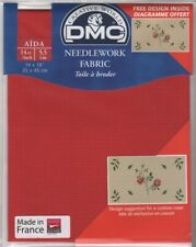 """DC27/321 Pack of DMC 14 count Red Aida approx size 35 x 45cm (14 x 18"""")"""