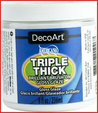 Deco Art Triple Thick Brilliant Brush On Gloss Glaze 8 oz Other Multi Colored