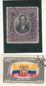 COLOMBIA 1910, 100th Anniversary of Independence, Camilo Torres, 1/2c Used
