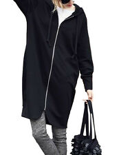 Womens Oversized Hoodie Coat Jackets Cardigan Parka Outwear Sweatshirt Plus Size