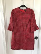 J. Crew Bell Sleeve Dress Fiery Sunset Red Size 6