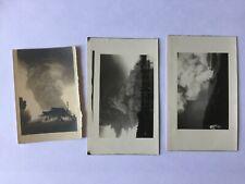 3x Echtfoto Vulkanausbruch 1937 Papua-Neuguinea-Stempel-Vulkan-Rabaul-Tavurvur