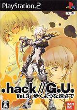 Used PS2 .hack//G.U. Vol. 3: Aruku Youna Hayasa de   Japan Import
