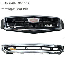 For Cadillac XTS 2016-2017 Front Bumper Radiator Vent Grill Upper + Lower Grille