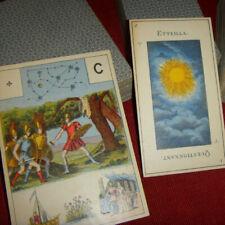 Ancien jeu de carte divinatoire Grand Lenormand Etteilla Tarot Marseille Grimaud