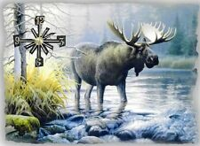 Moose  Wall Clock  Makes Great Gifts