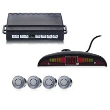 Car LED Reverse Backup Radar System Buzzer Sound Warning with 4 Parking Sensors