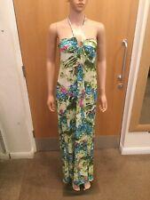 Only Star Multi Coloured Halter Neck Long Dress - UK Size S - JR