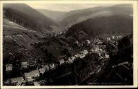 Katzhütte Oberes Schwarzatal DDR s/w Postkarte 1957 Gesamtansicht Blick ins Tal