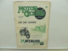 April 1947 MOTORCYCLING Magazine Matchless Clubman G3/L G80 L9778