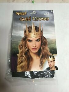Gold Crown Headband for Costume Cosplay King Queen Game of Thrones Adult