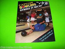 CAPCOM BOWLING 1988 By CAPCOM ORIGINAL NOS VIDEO ARCADE GAME PROMO SALES FLYER