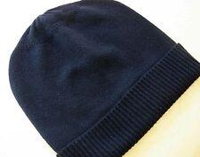 Black 100% Pure cashmere Hat  Ski beanie Winter Cap skull Unisex