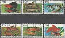 Timbres Poissons Guinée 1255G/M o lot 13474