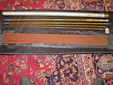 H.L.Leonard Tournament 9' Bamboo Fly Rod  Case & Spare Tip section 4 3/4oz