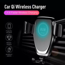 10W Qi Wireless Automatic Clamping Fast Car Charger Mount Holder Stand Fr iPhone