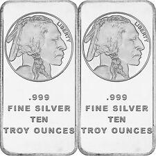 American Buffalo Bar by SilverTowne 10oz .999 Fine Silver Bar (2 pc)