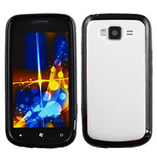 For Samsung Focus 2 i667 TPU Gel GUMMY Hard Skin Case Phone Cover White Black