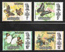 Malaysia 1977 Kelantan Harrison printing Butterflies Set of 4 U/M