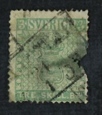 CKStamps: Sweden Stamps Collection Scott#1 Used Thin Fault