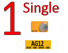 Watch Battery AG12  - SINGLE G12 – LR43 – 386 – SR43 – 186