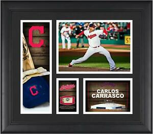 Carlos Carrasco Cleveland Indians Framed 15x17 Collage & Piece of Used Ball