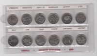 12x 1999 Millennium Canadian Quarter 25 Cent Coin Set Canada Circulated HOLDER A