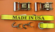 6-PC. TOW DOLLY CAR HAULER TRUCK TRAILER ROLLBACK LASSO  RATCHET STRAP SET USA