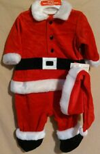 Okie Dokie 2 piece Christmas outfit size 0-3 months Santa suit hat red winter