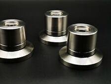 3x Solid Steel 70-50mm HiFi Speaker Amp Isolation Spike Stand Feet ceraball
