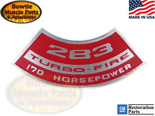 60-62 Impala Bel Air 62 63 Chevy II 283 TURBO-FIRE 170hp Engine Decal Bel Air