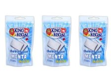 3x King Regal Chicles Menta Sin Azúcar Bolsa 45g