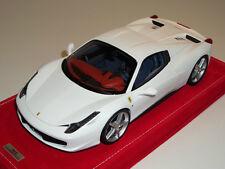 1/18 MR Ferrari 458 Italia Spider Hard Top Matt White silver wheels Alcanatara