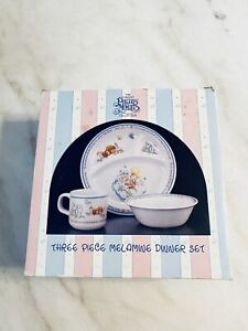3PC VINTAGE PRECIOUS MOMENTS CHILDREN'S KIDS BABIES DINNERWARE PLATE BOWL CUP