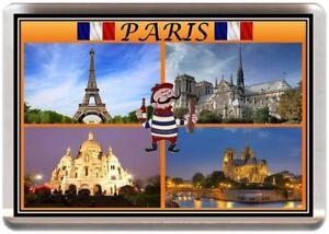 PARIS FRIDGE MAGNET FRANCE EIFFEL TOWER NOTRE DAME LOUVRE FRENCH REF SFPAR1.2