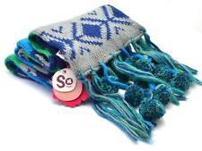 Winter SO Women's Scarves Blue Green Gray Fringe Tassels Shawl Muffler Scarf NEW