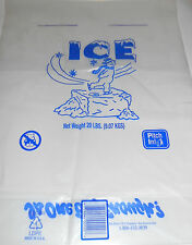 Lot of 10   20 lb. ICE Freezer bags - Cool storage to bag your own ice cubes-NEW