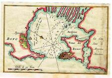 "Roux Map (Chart) -1764- ""GOLFE DE MARSEILLE""  Hand-Colored Engraving"