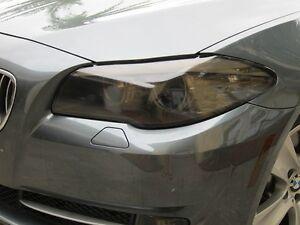 2011-2014 BMW 5 SERIES F10 SMOKE HEAD LIGHT PRECUT TINT COVER SMOKED OVERLAYS