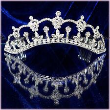 "DIADEME cristal perles ""FLEURS"" Bijou Mariage Miss"