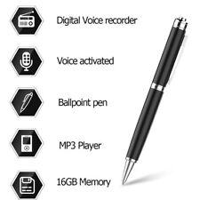 Enregistreur de Voix Digital Stylo à bille activé 16GB Joueur MP3 NEUF